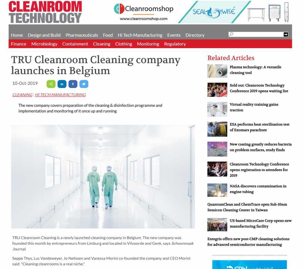 artikel Cleanroom Technolgy